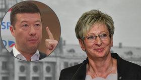 Ministryně průmyslu a obchodu Marta Nováková podniká společně s Tomiem Okamurou. Podílu ve firmě se po nástupu do vlády zbavuje