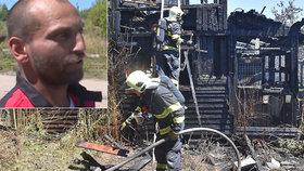 Hrdina ze sběrny: Dělník zachránil spící ženu z hořící chatky v Karlových Varech