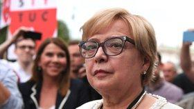 Předsedkyně polského nejvyššího soudu Malgorzata Gersdorfová (3.7.2018).