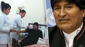 Bolivijský prezident Morales podstoupil operaci nádoru