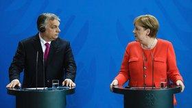 Merkelová a Orbán v Berlíně (5. 7. 2018)