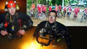 Třináctičlennou skupinku, která uvízla v thajských jeskyních, objevil tým britských potápěčů.