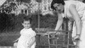 Anna Franková s matkou