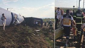 V Turecku vykolejil vlak, jsou mrtví a zranění