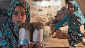 Syrská holčička osm let chodila po plechovkách.