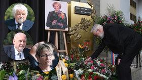Na pohřeb exministryně Dagmar Burešové přišli Pithart, Rychetský či Šabatová