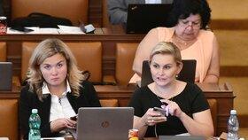 Na jednání o důvěře dorazila i exministryně spravedlnosti Taťána Malá, která skončila den předtím. (11.7.2018)