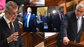 Premiér Babiš si vyměnil pár urážek s predsedou TOP 09 Kalouskem
