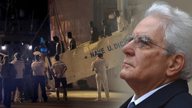 Na popud italského prezidenta se v sicilském přístavu Trapani ve čtvrtek pozdě večer vylodilo po čtyřech dnech na moři 67 migrantů
