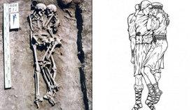 Archeologové učinili unikátní nález, odkryli hrob, kde spočívá muž a žena v láskyplném objetí.