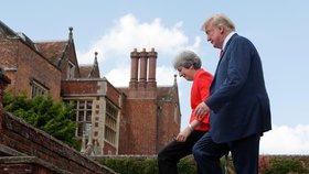 Americký prezident Donald Trump na tiskové konferenci s britskou premiérkou Theresou Mayovou