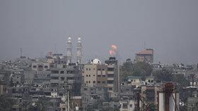Nálet izraelského letectva na Pásmo Gazy