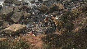 Záchranáře zavolali náhodní kolemjdoucí turisté.