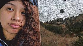 Dívka přežila pád s autem z 60metrové skály.
