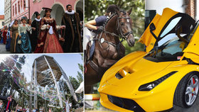 Tipy na víkend: Unikátní auta za miliony, narozeniny v korunách stromů i závod koňské všestrannosti