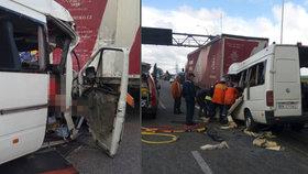 Tragická nehoda českého kamionu na Ukrajině: Po srážce s mikrobusem 10 mrtvých
