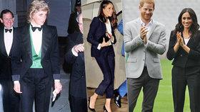 Meghan chce po vzoru Diany nosit smoking: Kalhoty v tomhle vztahu nosím já, zlobí se Harry