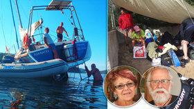 Čeští senioři ze ztroskotané lodi popsali hrůzu na Elbě: Přes palubu se valily 3metrové vlny.