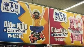 Machistická reklama na hračky v obchodech Carrefour pobouřila Argentince.