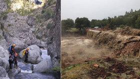 Při náhlé záplavě kaňonu na Korsice přišlo o život 5 lidí, mezi nimi i dítě