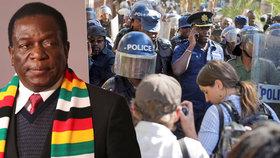 Lidé Zimbabwe zvolili nového prezidenta, tiskovku opozice rozehnala policie.