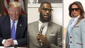 Ve sporu s prezidentem Trumpem podpořila sportovce i první dáma.