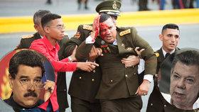 Na venezuelského prezidenta byl údajně spáchaný atentát. Viní z něj prezidenta sousední Kolumbie, místní vláda to však odmítá