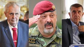 Prezident Miloš Zeman, šéf armády Aleš Opata a premiér Andrej Babiš (ANO) litují úmrtí tří českých vojáků.