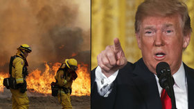 Trump nařídil uvolnit federální pomoc kvůli kalifornským požárům