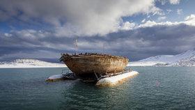 Trojstěžník pojmenovaný po tehdejší norské královně Maud byl spuštěn na vodu v roce 1916.