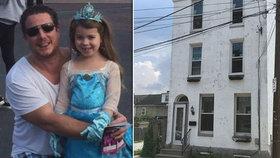 Sedmiletá holčička byla zavražděna svým násilným otcem.