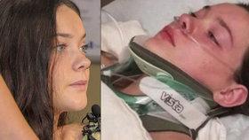 Dívka (16), kterou strčili z mostu, promluvila: Mohla jsem umřít!