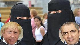 Podle herce Rowana Atkinsona byl Johnsonův výrok o ženách v burkách ve skutečnosti vtipný a omlouvat by se neměl.