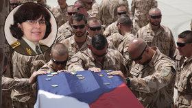 Brigádní generálka Lenka Šmerdová je předsedkyně výboru Vojenského fondu solidarity. Vybranou částku na padlé hrdiny považuje za neuvěřitelnou.