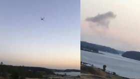 Na internetu se objevilo několik záběrů ukradeného letounu i jeho následného zřícení.