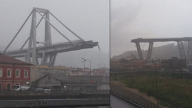 Nejméně 35 mrtvých při zhroucení mostu v Itálii. V troskách hledají přeživší