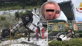 Zázračné přežití českého řidiče v Itálii: Poprvé se postavil na nohy a chystá se domů