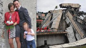 Při pádu mostu u Janova zahynula tříčlenná rodina: Roberto Robbiano, jeho žena Ersilia Piccinino a jejich sedmiletý syn Samuel.