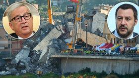 Italský ministr vnitra obvinil EU, že jim neposkytla dostatečné finance na opravu infrastruktury; Junckerův mluvčí tvrdí, že peněz dostali dost.