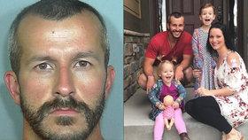 Chris zabil své dvě dcery a manželku.