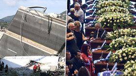Státní pohřeb obětí pádu dálničního mostu u Janova, (18.08.2018).