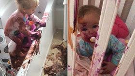 Děti se vyřádily s barvami, pokreslily i svou nejmladší sestřičku