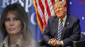 Melania a Donald Trump.