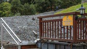 Oblast Saalbachu - Hinterglemmu v Rakousku zasáhly bouřky a přívalové deště. Způsobily bleskové povodně.