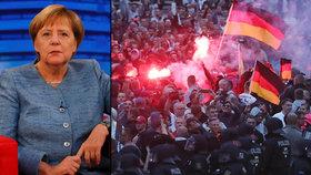 Merkelová tvrdě odsoudila štvanice z Chemnitzu, v právním státu podle ní nemají místo.