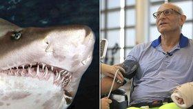 Muž promluvil, jak mu sledování přírodovědných dokumentů zachránilo život při útoku žralokem.