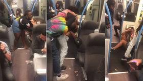 V anglickém vlaku se strhla drsná bitka.
