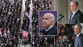 Poslední rozloučení se zesnulým americkým senátorem Johnem McCainem (1. 9. 2018)