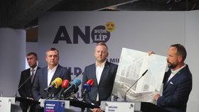 Primátoři Brna a Ostravy Vokřál s Macurou a pražský lídr Stuchlík zahájili s Babišem kampaň ANO před komunálními volbami