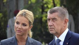 Andrej Babiš s manželkou Monikou během návštěvy Berlína (5.9.2018)